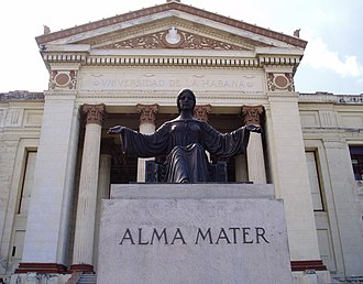 University of Havana - Statue of Alma Mater at on the main steps of the university.