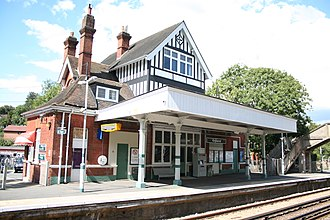 Kingswood railway station - Image: Up side booking office at Kingswood station