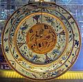 Urbino, bottega fontana, piatto a raffaellesche con incontro tra aronne e mosè, 1570 ca., retro.JPG