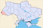 Ужгород на карте страны