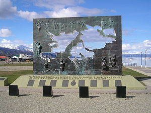 Ushuaia, Argentina - a monument to Falklands W...