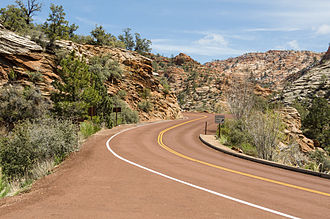 Utah State Route 9 - State Route 9 near Canyon Overlook trailhead