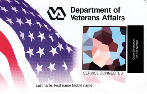 Veterans Health Administration - A VA Veteran identification VIC card for Veterans eligible for VA health care benefits