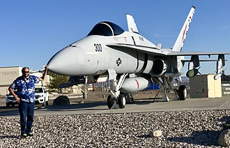 VFA-22 - VFA-22 F/A-18 at NAS Fallon Nevada USA on the grounds of the Naval Air Station Fallon Air Park (Museum), home of the TOPGUN Navy Fighter Weapons School.