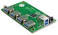 VIA Labs VL811 USB 3.0 4-Port Hub - Board Angle (6119774674).jpg
