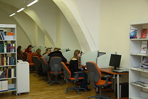 Vilnius University Library - Sidabrinė (Silver) reading room, HIC