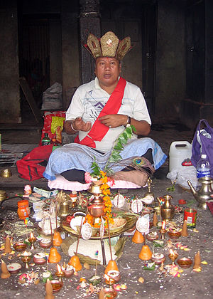 Newar Buddhism - A Vajracharya priest