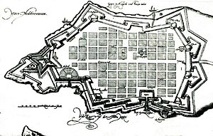 Francesco Laparelli - Map of Valletta in the 1580s