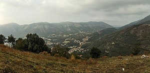Arienzo - A view of Arienzo from the hill where its castle is located
