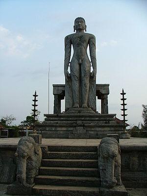 Ajila - Monolith of Bahubali in Venur erected by Veera Timmannarasa Ajila IV