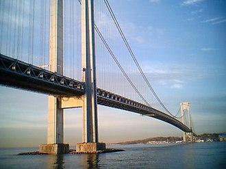 American Bridge Company - Verrazano-Narrows Bridge, New York Harbor