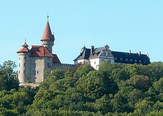 Princess Regina of Saxe-Meiningen - The Veste Heldburg, where Regina grew up, overlooks the Heldburger Land in South Thuringia.