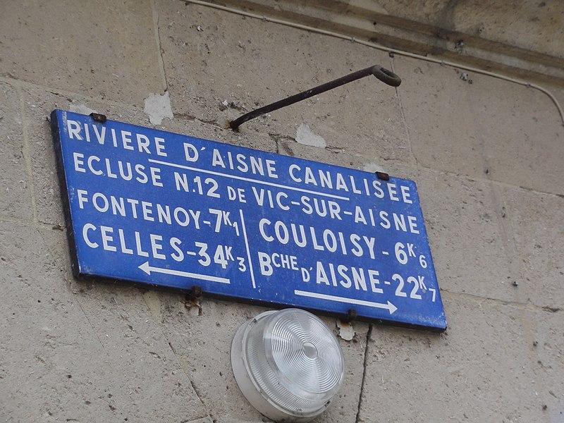 Vic-sur-Aisne, Aisne canalisée, écluse nr 12, plaque