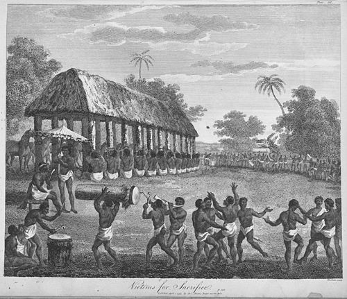 """Victims for sacrifice"" - from The history of Dahomy, an inland Kingdom of Africa, 1793. Victims for sacrifice-1793.jpg"
