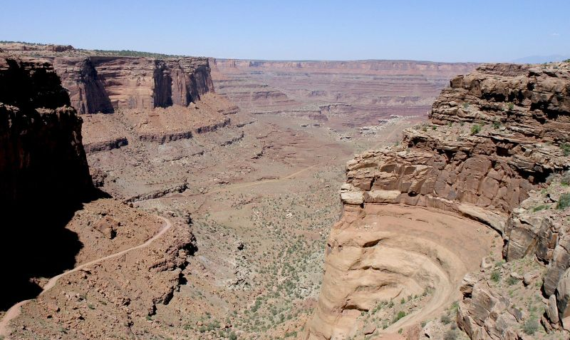 Fichier:View from Shafer Trail Road in Canyonlands.jpeg