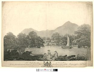View of Brydden & Moely Golfe, with Rodney's Pillar: from the road near Welchpool, Montgomeryshire, North Wales/ June 1 1798