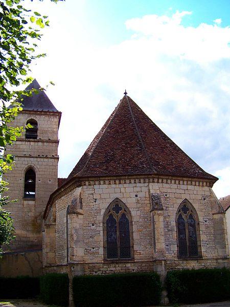 Église de Vincelles, chevet