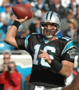 History of the Carolina Panthers - Vinny Testaverde in 2007.