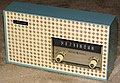 Vintage General Electric Musaphonic Plastic Table Radio, Model T-165A, Broadcast Band Only (MW), 5 Tubes, Made In USA, Circa 1960 (14699869418).jpg