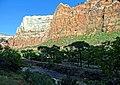 Virgin River Sunset, Zion National Park 2014 (32615443260).jpg