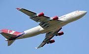 Boeing 747-400 taking off