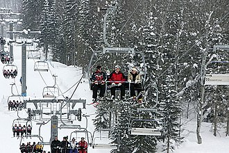 2014 Winter Olympics - Chairlift in Krasnaya Polyana