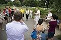 Volunteers with Monarch Teacher Network release butterflies in Arlington National Cemetery (28796524891).jpg