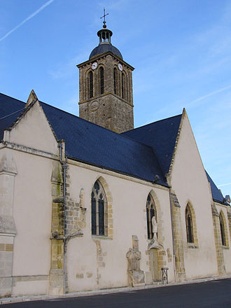 Vouvray - The church in Vouvray