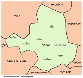 mapa vrbasa Opština Vrbas — Vikipedija, slobodna enciklopedija mapa vrbasa