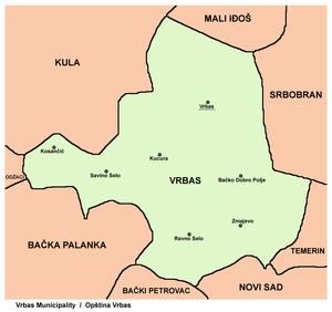 vrbas mapa Врбас (община) — Википедия vrbas mapa