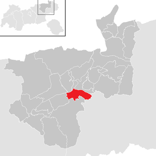 Location of the municipality of Wörgl in the Kufstein district (clickable map)