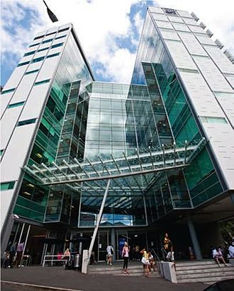 Auckland University of Technology - WF (Business) Building at AUT's Auckland City Campus.