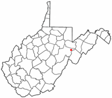 Location of Harman, West Virginia