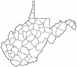 Location of West Logan, West Virginia