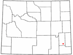 Location of Chugwater, Wyoming
