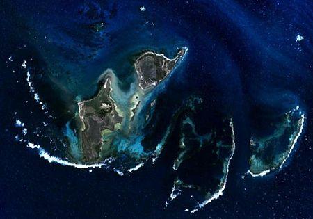 Localisation du naufrage dans le groupe des iles Wallabi (Houtman Abrolhos)