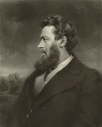 Walter Bagehot - Portrait by Norman Hirst,  after an unknown artist