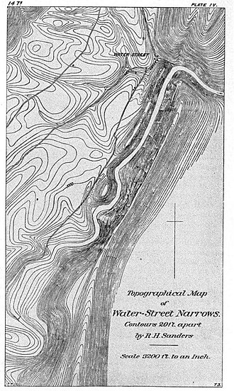 Tussey Mountain - Topographical Map of the Water Street Narrows, 1885