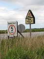 Water ski area - the reverse of the sign - geograph.org.uk - 1358760.jpg