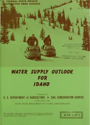 Water supply outlook for Idaho and federal-state-private cooperative snow surveys