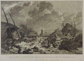 Storm tides of the North Sea - Netherlands storm tide, 1809