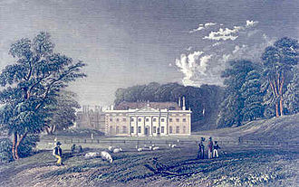 """Weald Country Park - Engraving by William Henry Bartlett of Weald Hall from """"The Picturesque Beauties of Great Britain, Essex"""", 1834"""