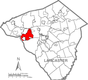 West Hempfield Township, Lancaster County, Pennsylvania - Image: West Hempfield Township, Lancaster County Highlighted
