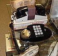 Western Electric Princess telephone with Texas Instruments Silent 700 Acoustic Coupler (modem) - Telephone Museum - Waltham, Massachusetts - DSC08239.jpg