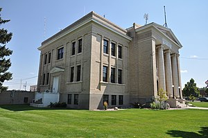 Platte County, Wyoming - Image: Wheatland WY Platte County Courthouse