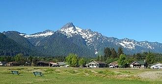 Darrington, Washington - Whitehorse Mountain seen from Old School Park