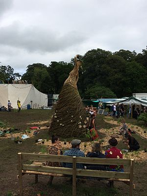 Eden Festival - Wicker sculpture in the garden at Eden Festival in 2014