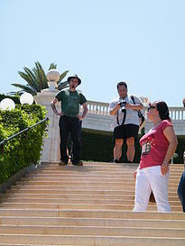 Wikimedians on the Bahá'í gardens tour - Stierch.jpg