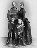Wilhelm II with his wife and eldest son.jpg