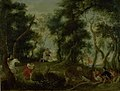 Willem van Herp - Landscape with Atalanta and Meleager Hunting the Calydonian Boar - KMS7209 - Statens Museum for Kunst.jpg